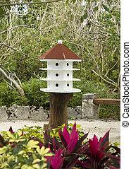 Wooden White Birdhouse