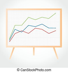 Wooden whiteboard. Vector Illustration - Wooden whiteboard...