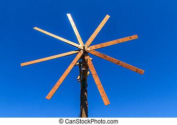 Wooden windmill (Klapotetz), Styria, Austria