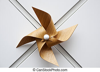 Wooden windmill toy - Photo of wooden windmill toy
