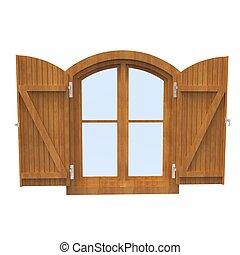 Wooden Window 2