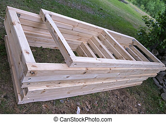 window frames for building a house