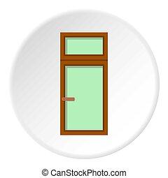 Wooden window icon circle