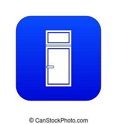 Wooden window icon digital blue