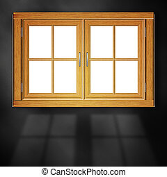 Wooden Window in Room