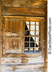 Wooden window in rural Bulgaria