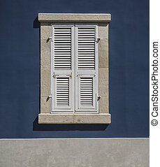Wooden window shutters - Closed old shuttered weathered ...