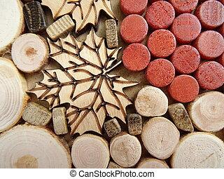 Wooden Wine Decoration
