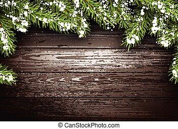 Wooden winter background.