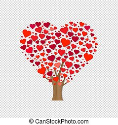 Wooden With Hearts Transparent Background