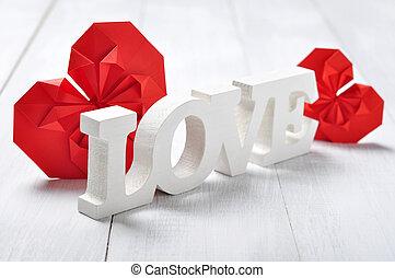 "Wooden word ""Love"""