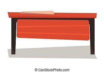 Wooden writing desk vector illustration. - Wooden writing...