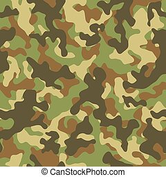 Woodland Camouflage Seamless Pattern - Vector illustration...