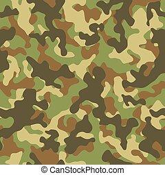Woodland Camouflage Seamless Pattern - Vector illustration...