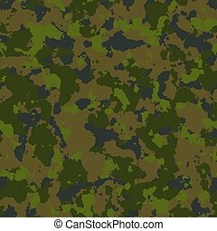 Woodland Camouflage. Seamless Tileable Texture.