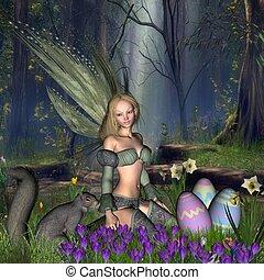 Woodland Easter Egg Fairy