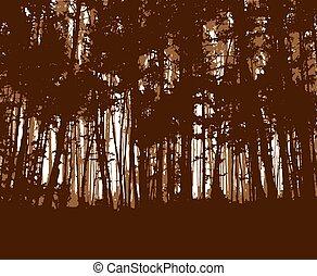 Woodland eco banner.