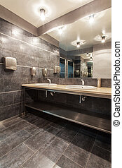 Woodland hotel - Public bathroom - Woodland hotel - Bathroom...