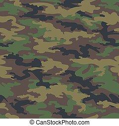 Woodland hunting camoflauge seamless pattern - Military army...