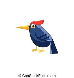 Woodpecker Simplified Cute Illustration