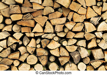 Woodpile - closeup on a woodpile