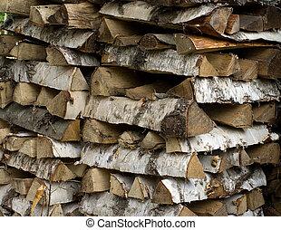 Woodpile.