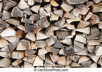 woodpile outdoors