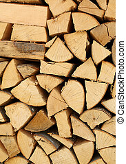 woodshed with pieces of wood