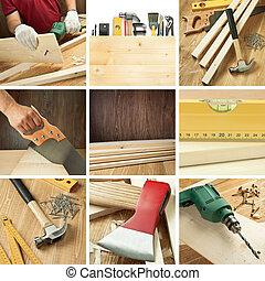 Woodwork collage