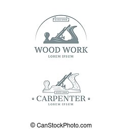 Woodwork label design - Woodwork and Carpenter vintage style...