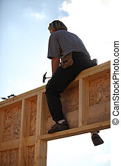 woodworker on a construction site