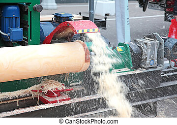 Woodworking equipment - The machine for giving of a...