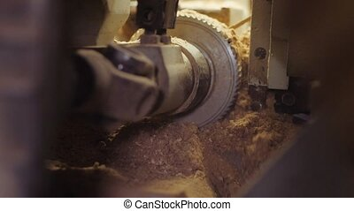 Woodworking machine in the shop. - Woodworking machine for...