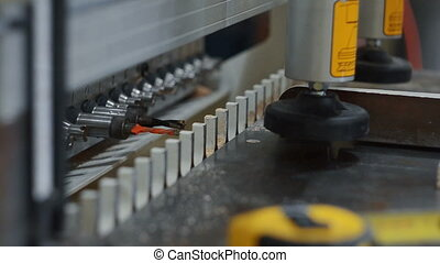 woodworking machine work - woodworking machine in the drill...