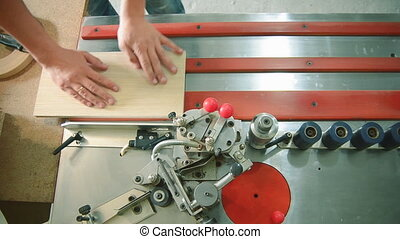 woodworking machine work - woodworking machine in the drill...