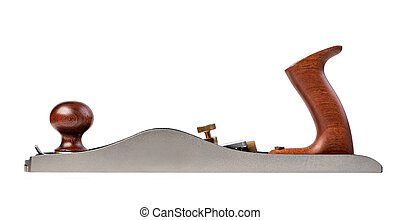 Woodworking plane isolated on white background