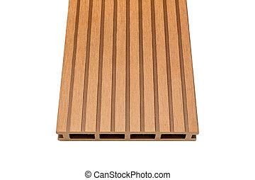 Woody composite decking board on white