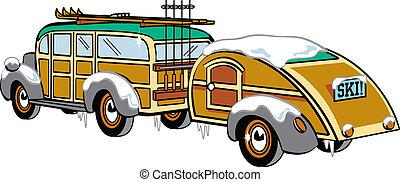 Woody Station Wagon Clip Art