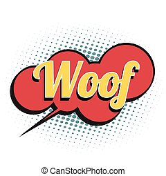 woof comic word