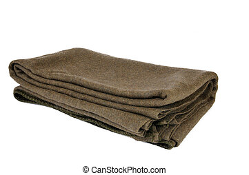 Wool military blanket - A standard issue wool military...