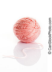 wool on a white background