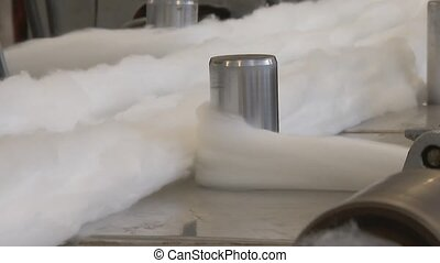 Wool Processing Plant. Creating fabrics from wool. Wool ...