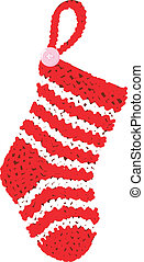 Wool Sock - Scalable vectorial image representing a wool...