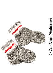 Wool socks isolated