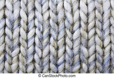 wool texture - Knitted wool background in white