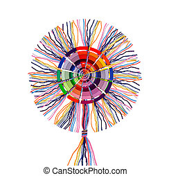 wool threads with color wheel