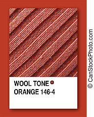WOOL TONE ORANGE. Color sample design