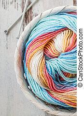 woolen, coloridos, fio