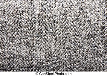 Background wool texture in a herringbone pattern.