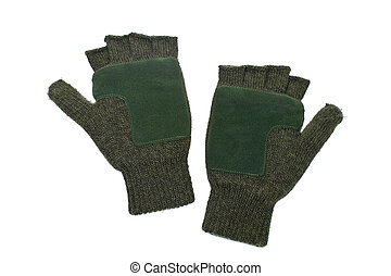 Woolen fingerless gloves - A woolen fingerless gloves ...